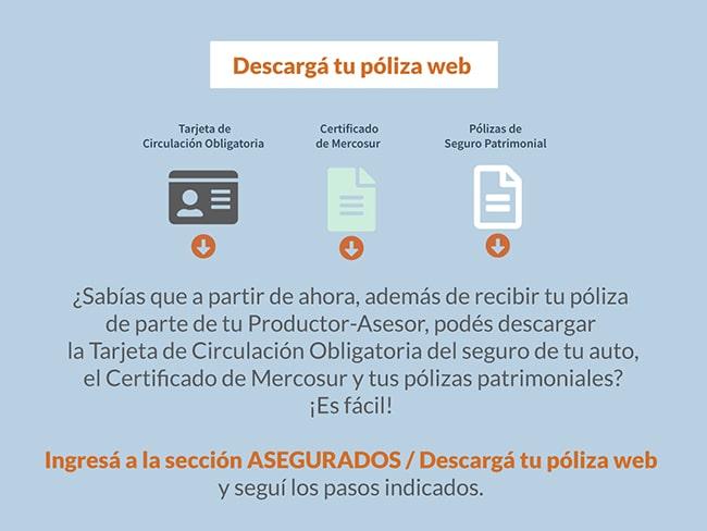 Descarga certificado Mercosur y póliza de tu auto online